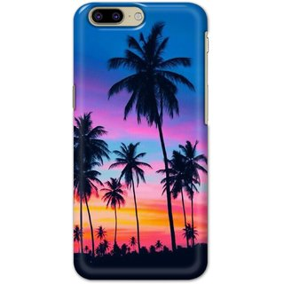 Ezellohub Printed Hard Mobile back cover for OnePlus 5 - beach