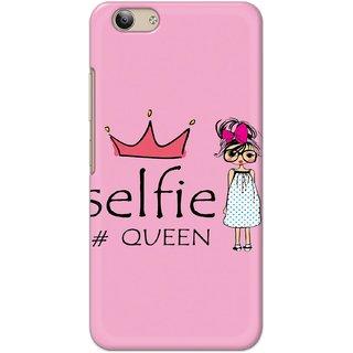Ezellohub Printed Hard Mobile back cover for Vivo Y53 - selfie queen