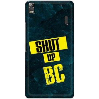 Ezellohub Printed Hard Mobile back cover for Lenovo K3 Note - shut up bc