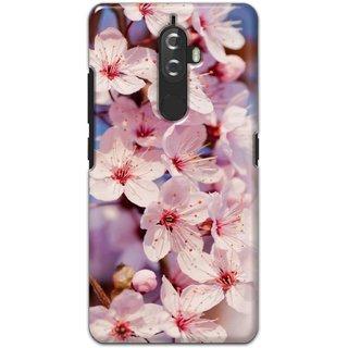 Ezellohub Printed Hard Mobile back cover for Lenovo K8 Plus - white flower