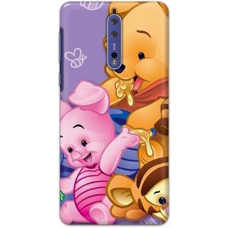 Ezellohub Printed Hard Mobile back cover for Nokia 8 - winnie the pooh
