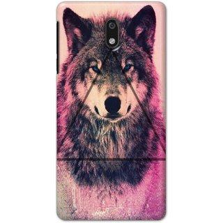 Ezellohub Printed Hard Mobile back cover for Nokia 3 - wolf