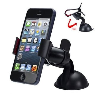 360 Degree Rotating Mobile Phone GPS Holder Stand Car Mount for Smartphones