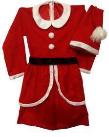 Pink Apricot Santa Clause costume dress
