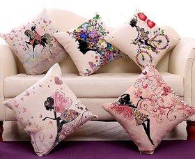 Home Comfort (16x16) Set of 5 Pcs Digital cushion Cover