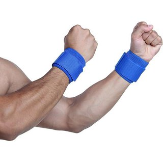 Wrist Support Wrist Band - Pack of 2 (Blue)