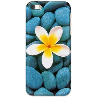 Ezellohub printed soft silicon mobile back case cover for   iPhone 5 - blue stone