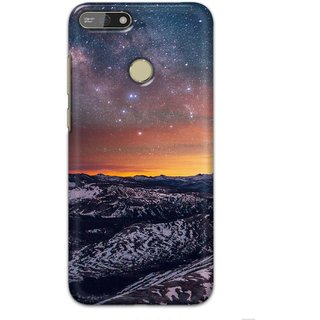 Ezellohub printed soft silicon mobile back case cover for  Honor 7A - snowhills