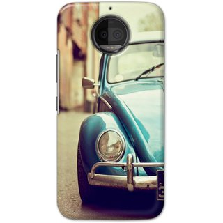 Ezellohub printed soft silicon mobile back case cover for  Motorola Moto G5S Plus - car