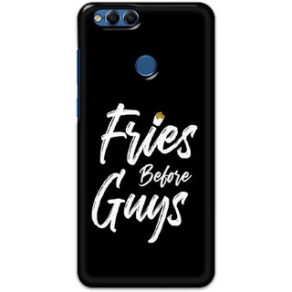 Ezellohub printed soft silicon mobile back case cover for  Huawei Honor 7X - fries