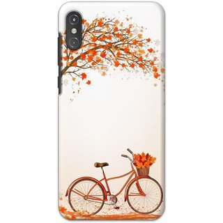 Ezellohub printed soft silicon mobile back case cover for  Motorola One Power - winter bycycle