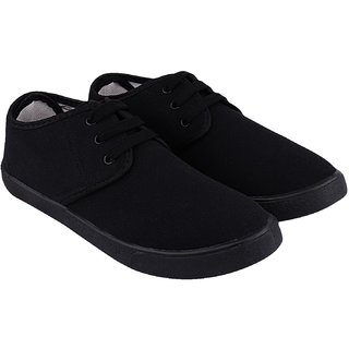 Weldone Men Canvas Black Casual Shoes