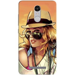 Digimate Printed Designer Hard Plastic Matte Mobile Back Case Cover For Xiaomi Redmi Note 3 Design No. 0182