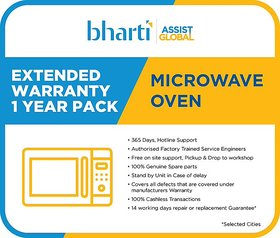 Bharti Assist Global Private Limited 1 Year Extended Warranty for Microwave Oven (Rs.14001  Rs.20000)