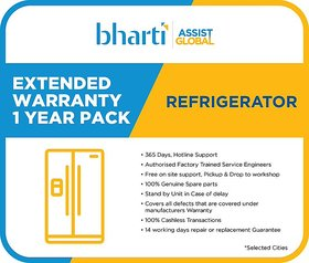 Bharti Assist Global Private Limited 1 Year Extended Warranty for Refrigerator between Rs. 1 to Rs. 15000