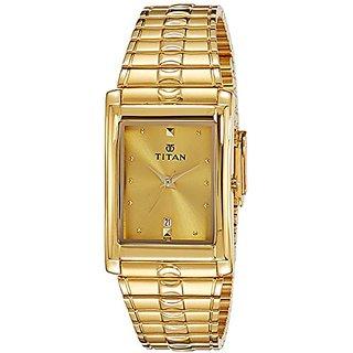 Titan Karishma Analog Gold Dial Mens Watch -NK9154YM02