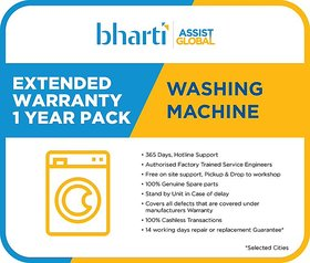 Bharti Assist Global Private Limited 1 Year Extended Warranty for Washing Machine between Rs. 12001 to Rs. 20000