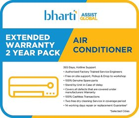 Bharti Assist Global Private Limited 2 Years Extended Warranty for Air Conditioner between Rs. 1 to Rs. 22000