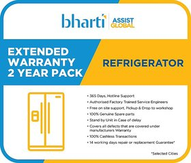 Bharti Assist Global Private Limited 2 Years Extended Warranty for Refrigerator between Rs. 1 to Rs. 15000