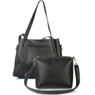 Mammon Women's/girl's latest stylish Handbags and sling bag combo(HS-Combo-BIB-blk)