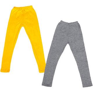 Kavya Girl'S Cotton Solid Leggings (Pack Of 2)