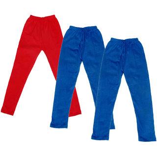 Kavya Girl'S Cotton Solid Leggings (Pack Of 3)