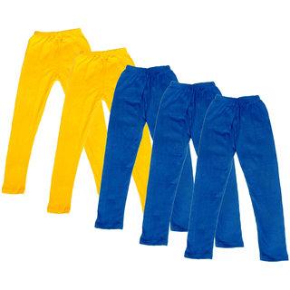 Kavya Girl'S Cotton Solid Leggings (Pack Of 5)