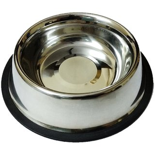 Dog Feeding Bowl, Cat Feeding Bowl, Pet Bowl, Stainless Steel, Anti-Skid, Round, 600 ML