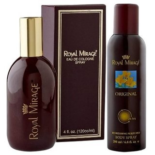 Royal Mirage Perfume and Deodorant,120 and 200ml (Set Of 2)