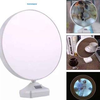 Magic Mirror Photo Frame LED Lamp cum Mirror Battery Charger For Gift