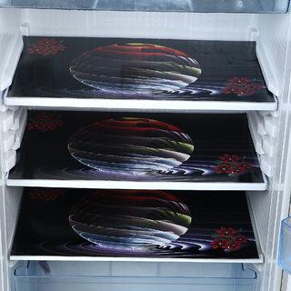 ARADENT Pack of 3 Pieces PVC Multipurpose Mat/Fridge Mats (Size  17X12 inches, Color  Multi)