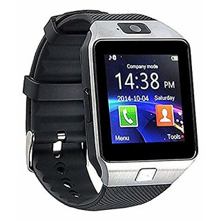 DZ09  Silver color Square Dial Touchscreen Smartwatch With Voice Calling and SIM Slot For all mobiles.