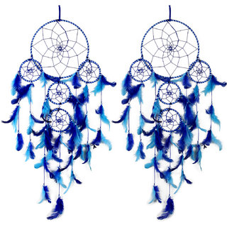 Meher Collection 5 Rings Large Dream Catcher Combo Traditional Indian wall Art for Bedrooms, Home Wall, Hanging Design