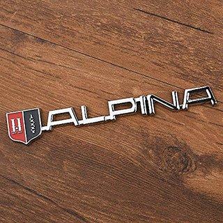 3D Chrome New BMW Alpina Emblem Badge Sticker