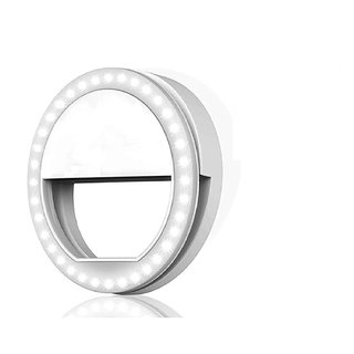 Plastic Portable Selfie Flash Beauty LED Ring Light for Smartphones Tablets iPhone Android iPad Series - Multicolour