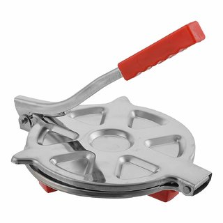 stainless steel roti maker / puri press / chapati and khakhra maker (medium size 7.5 diameter )