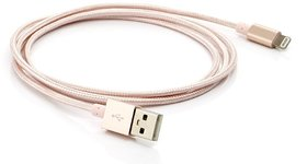 Yezbay ARI-33 1mtr 2.4Amp Breaded Lightening Charge  Sync Cable - Gold