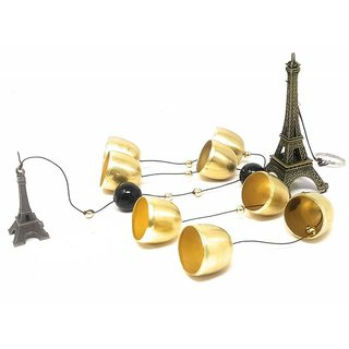 NP Metal Eiffel Tower Wind Chimes for Home (8 Bells -Long)