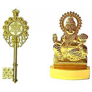 Kuber kunji and kuber murti fenshui combo for sucess ,home ,car,prosperity