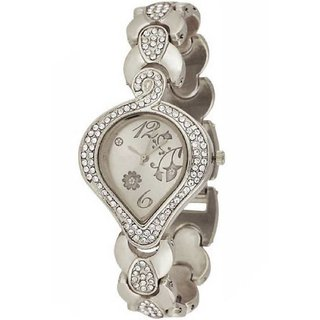 TRUE CHOICE NEW FULL SILVER COLOUR SUPPER FANCY LOOK WATCH FOR GIRLS N WOMEN WITH 6 MONTH WARRANTY