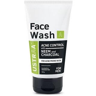 Ustraa Face Wash Acne Control - With Neem  Charcoal (100g)