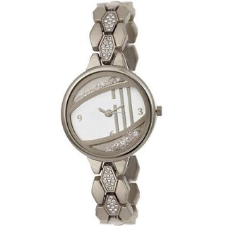 TRUE CHOICE NEW TC 68 FULL SILVER SUPPER FANCY WATCH FOR GIRLS WITH 6 MONTH WARRANTY