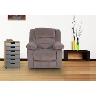 Houzzcraft Davenport 1 seater manual recliner in fabric