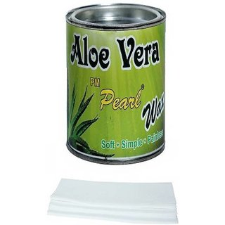 Aloe Vera Hot Body Wax 600Gm For Hair Removal With Wax Strips