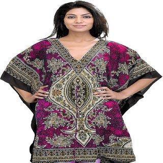 Mahi Shop Women's Short Polyester Kaftan with Dori at Waist (Free Size)