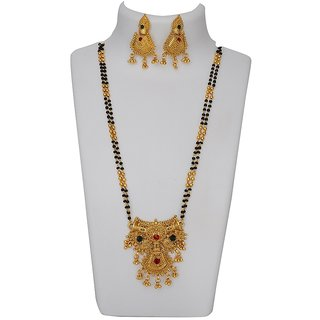 Ankur imitation jewellery gold plated multi color designer mangalsutra for women