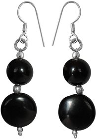 Ankur charming black beads earring for women