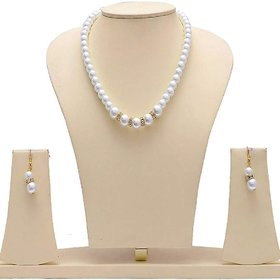 Ankur astonish pearl beaded necklace set for women