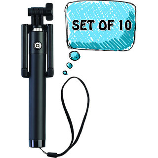 I Kall Selfie Stick Pack of 10- Black