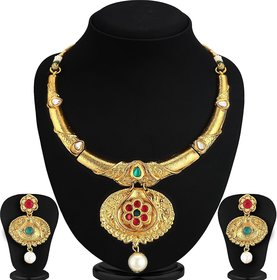 Ankur classy gold plated necklace set for women